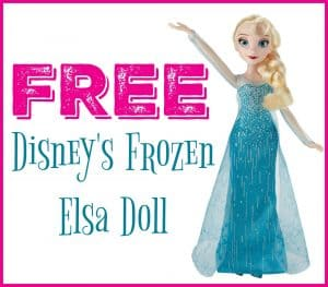 FREE Disney's Frozen Elsa Fashion Doll