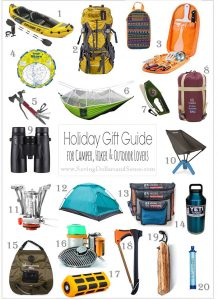 Holiday Gift Guide for Campers, Hikers and Outdoors Lovers
