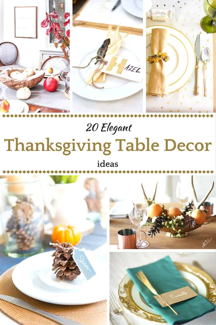 sc 1 st  Saving Dollars u0026 Sense & 20 Elegant Thanksgiving Table Decoration Ideas - Saving Dollars u0026 Sense