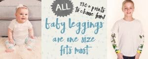 Get FIVE Pair of Baby Leggings FREE!