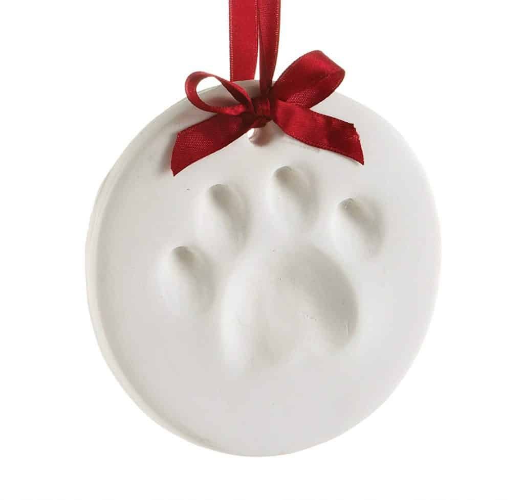 pet ornament paw print