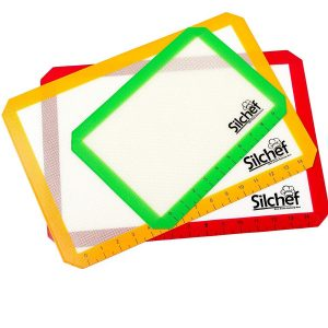 Silchef 3-piece silicone baking mat set.