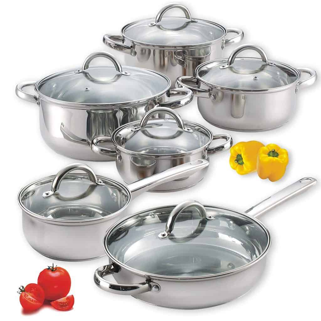Cook n home stainless steel cookware set.