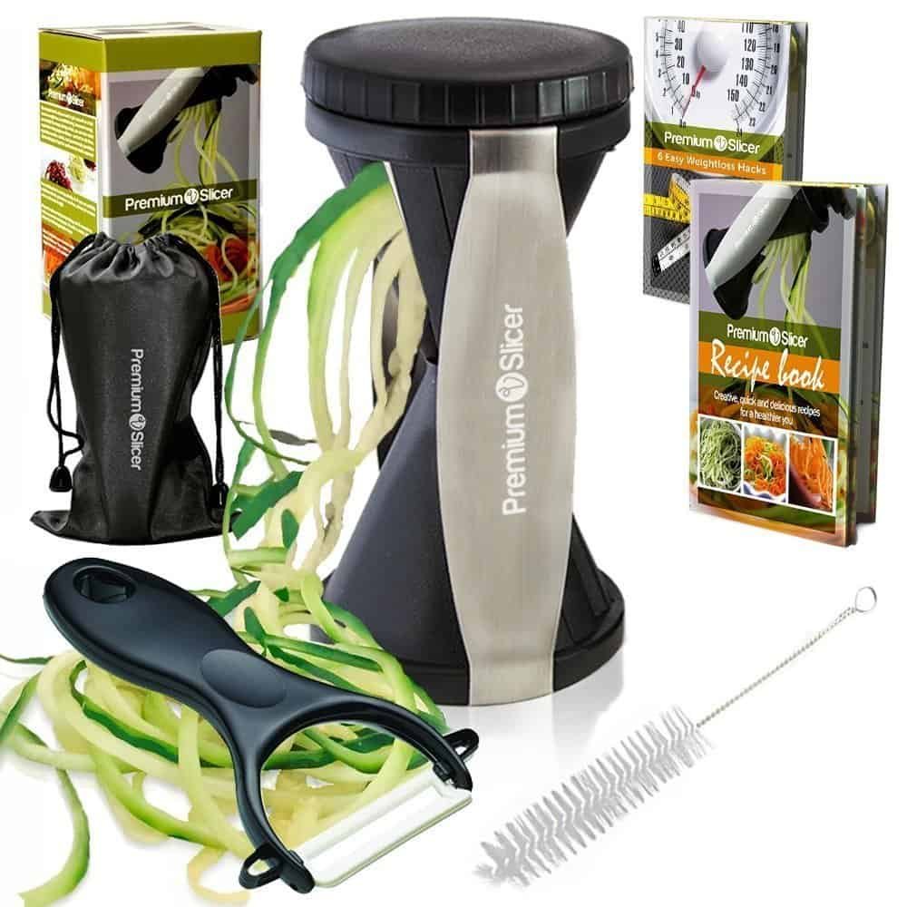 premium vegetable spiralizer bundle.