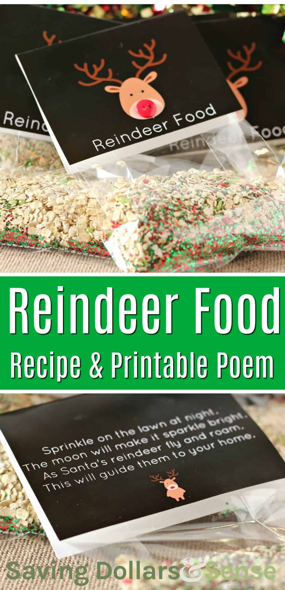 """Magic\"" Reindeer Food Recipe & Printable Poem"
