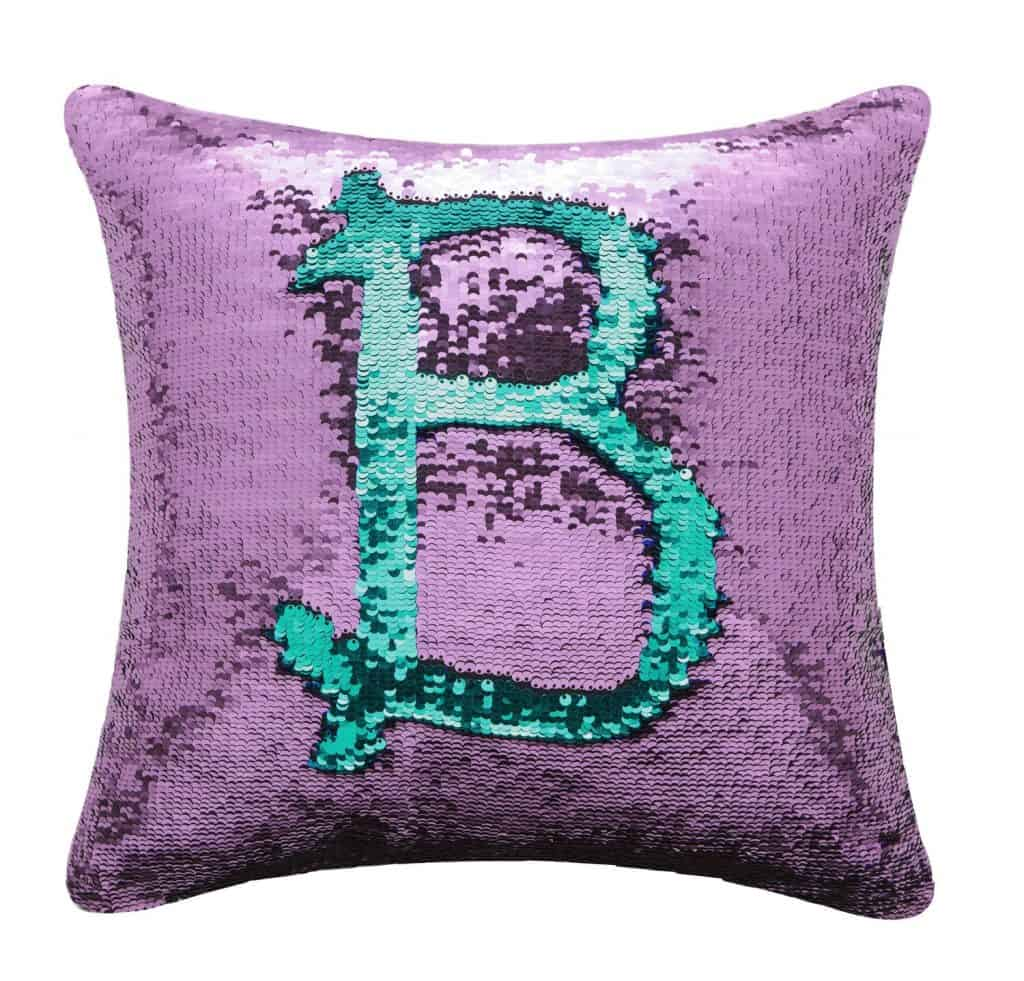 Colors reversible sequins mermaid pillow.