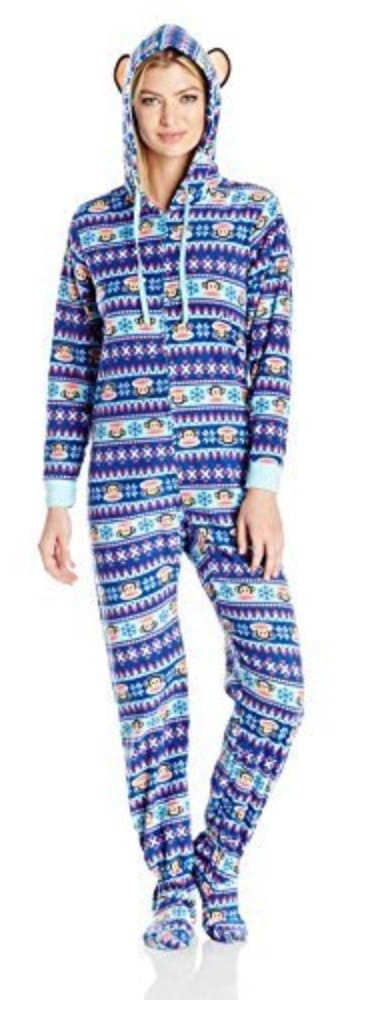 Paul frank hooded onesie pajamas.
