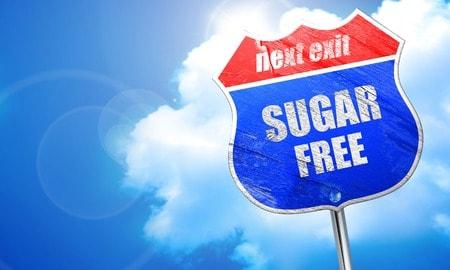 Sugar free next exit sign.
