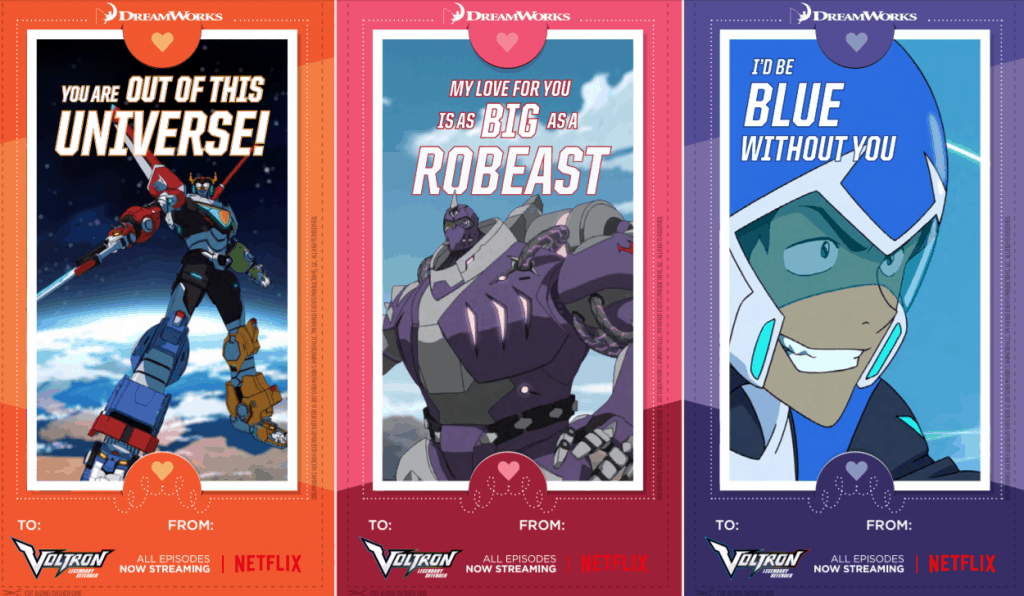 Printable Valentines For Kids Troll Hunters Voltron Dragons