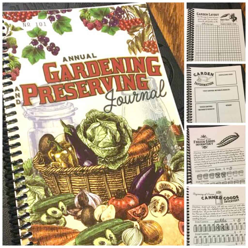 Annual Gardening and Preserving Journal
