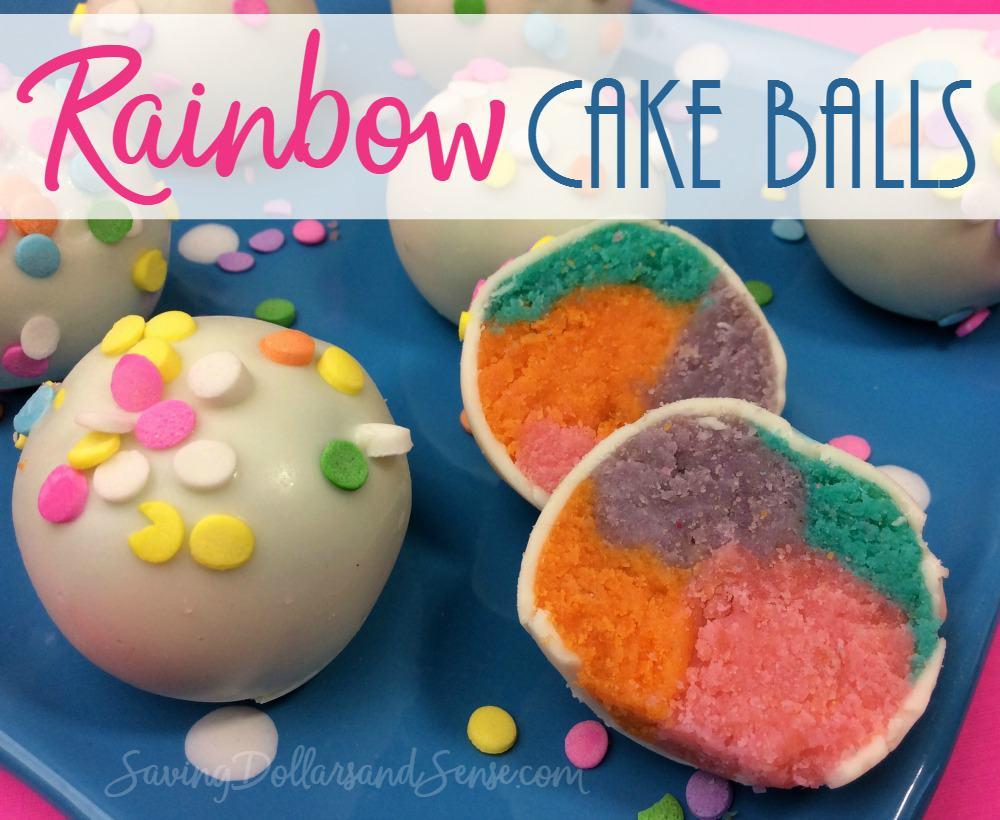 Rainbow Cake Balls Recipe - Saving Dollars & Sense