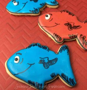 One Fish Two Fish Red Fish Blue Fish Cookies
