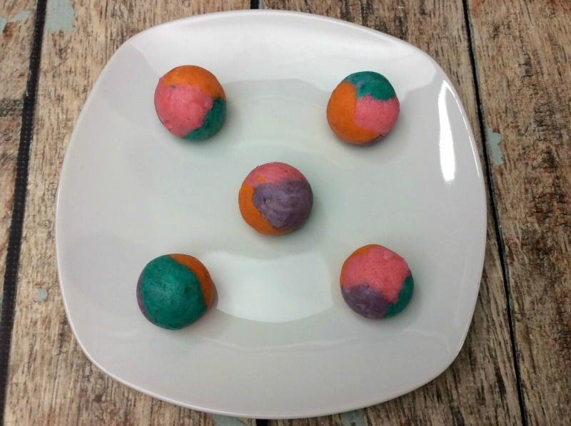 Rainbow cake balls