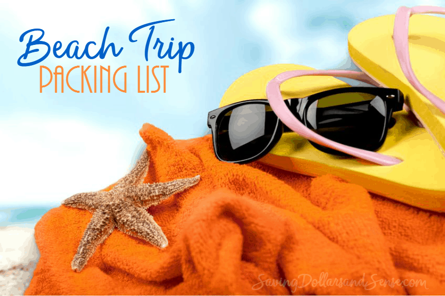 Beach Trip Packing List