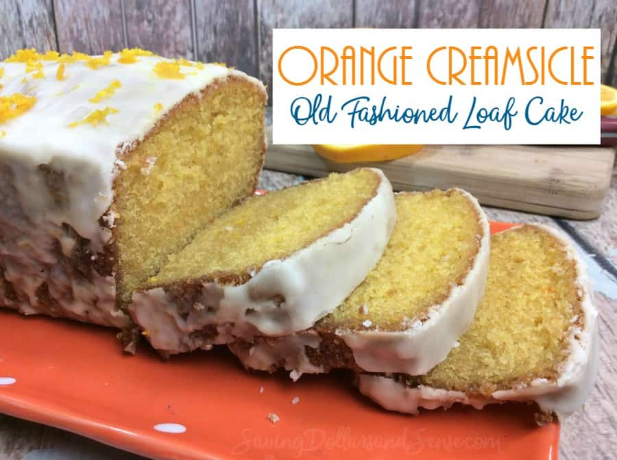 Orange creamsicle Loaf Cake