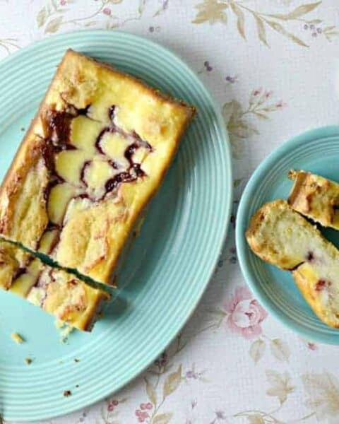 Raspberry Cheesecake Swirl Loaf
