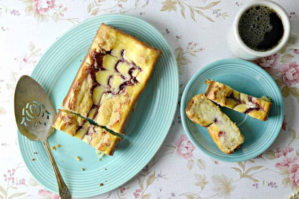 Raspberry Cheesecake Swirl Loaf