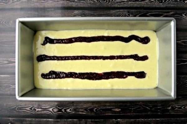 raspberry cheesecake bread process