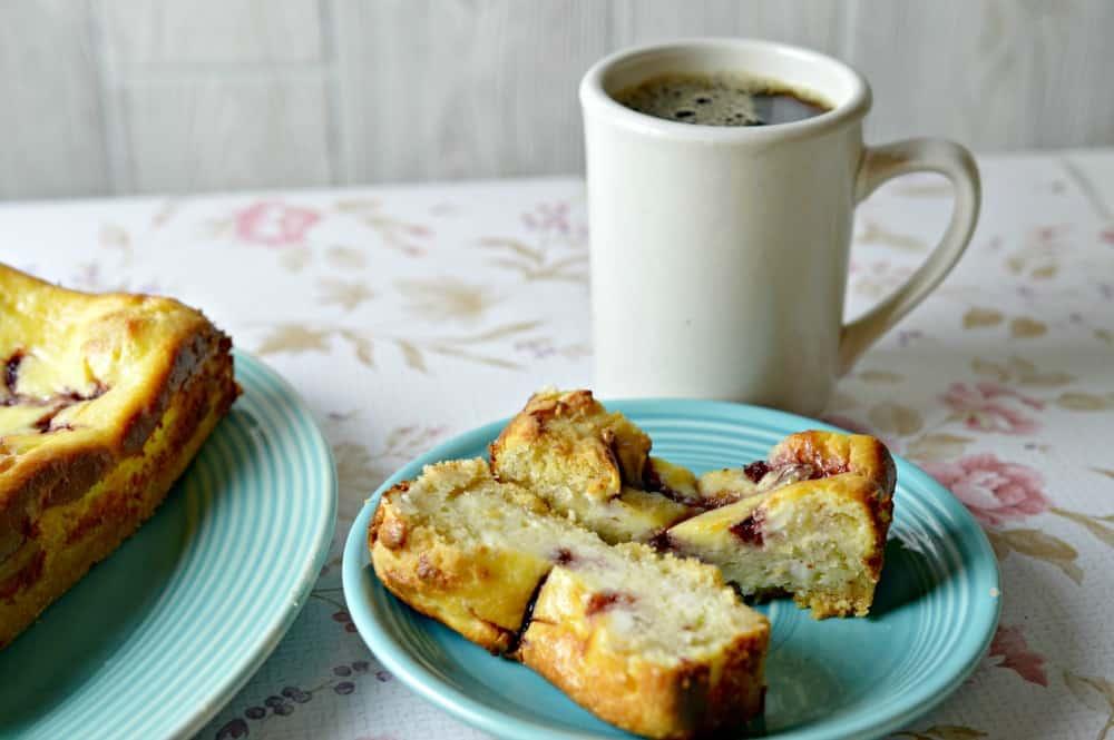 raspberry cheesecake bread