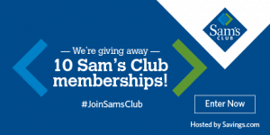 Sam's Club Membership Offer + A Giveaway for YOU!