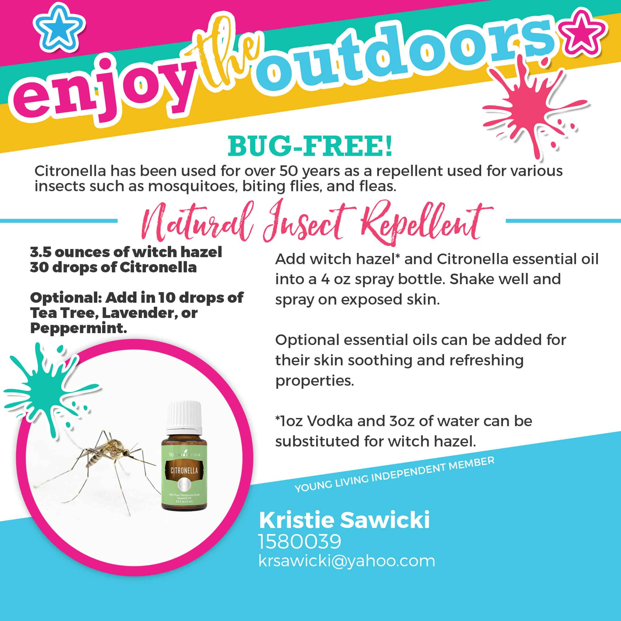citronella essential oil for bug spray