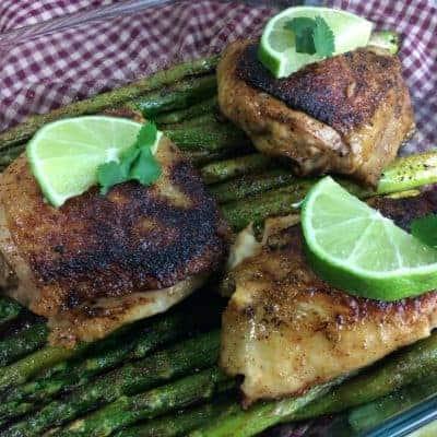 Citrus Chicken and Asparagus dinner recipe