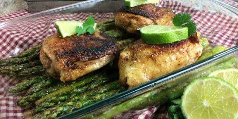 One Skillet Citrus Chicken and Asparagus recipe