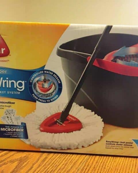 Review for O-cedar easy wring spin mop.