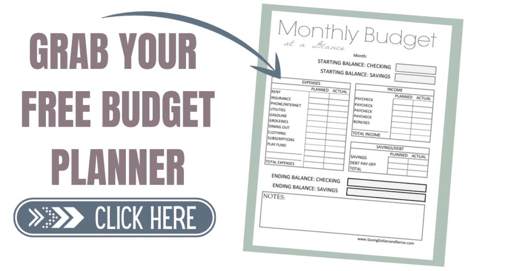 Free budget planner.