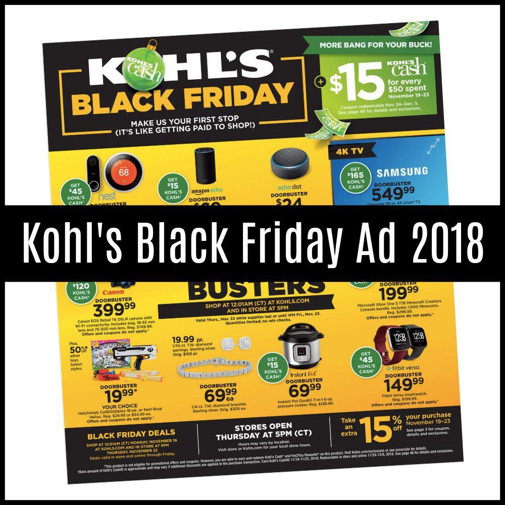 kohl 39 s black friday sales 2018 just released saving dollars sense. Black Bedroom Furniture Sets. Home Design Ideas