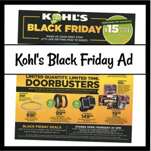 Kohl's Black Friday Sales 2017 (Just Released!!)