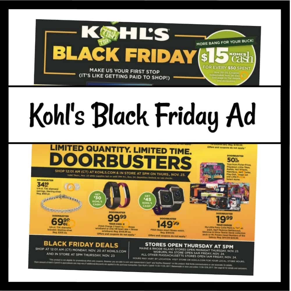 kohl 39 s black friday sales 2017 just released saving dollars sense. Black Bedroom Furniture Sets. Home Design Ideas