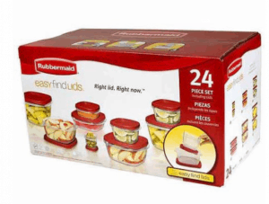 Free Rubbermaid Food Storage Container Set