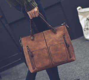 Trendy Double Pocket Handbag $25.99