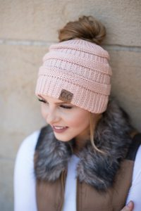 C. C. Top Knot Beanies $8.99 Shipped!