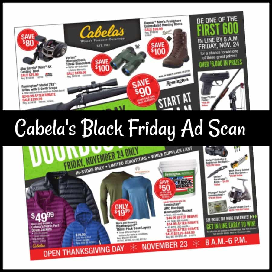 Cabelas Black Friday Sales