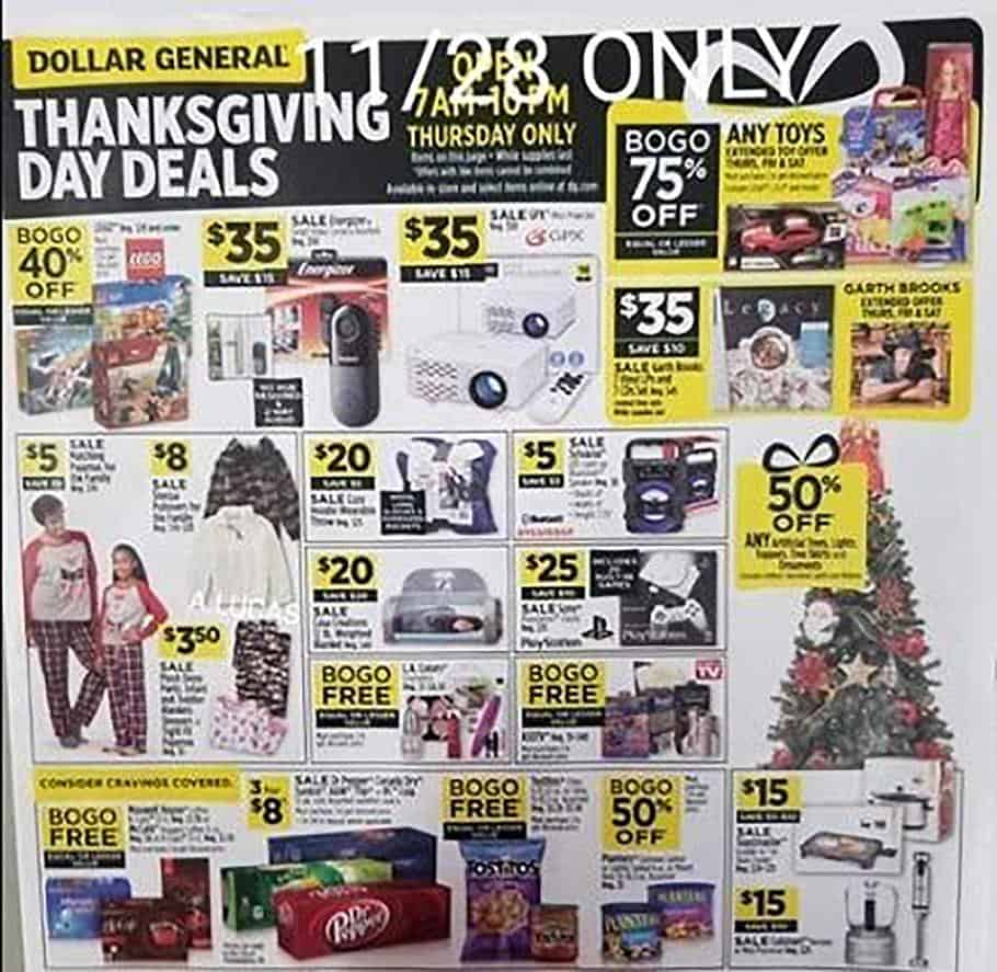 dollar general black friday sale 2019