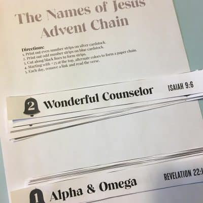 names of jesus chain