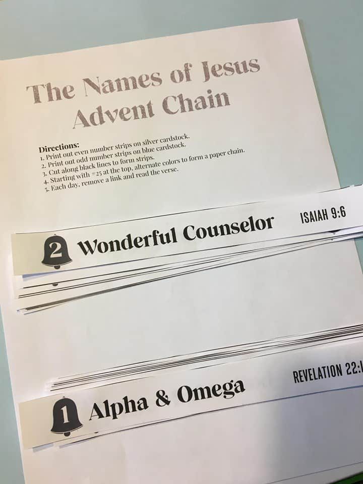 names of jesus chain