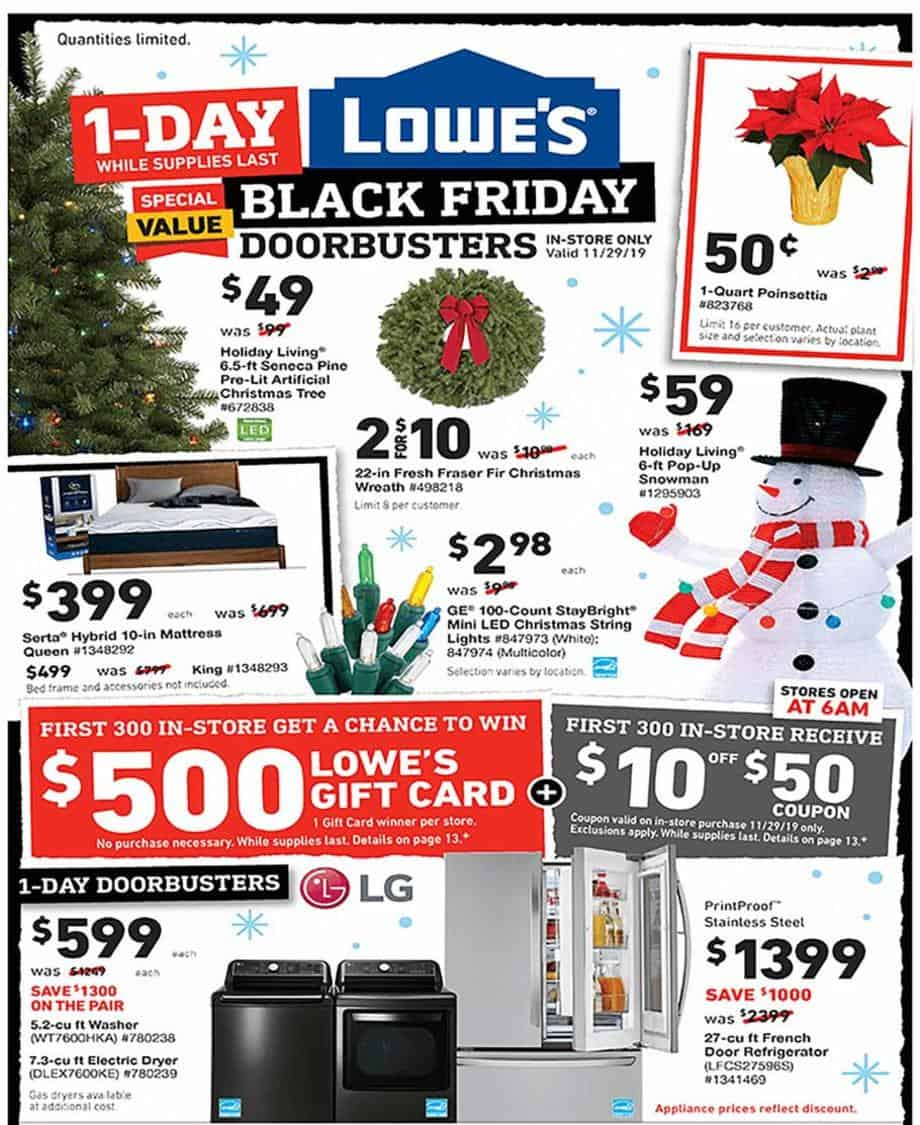 lowes black friday sale 2019