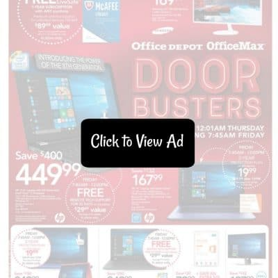 Office Depot & Office Max Black Friday Ad Scan