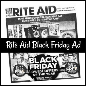 Rite Aid Black Friday Sales 2017 (Just Released!)
