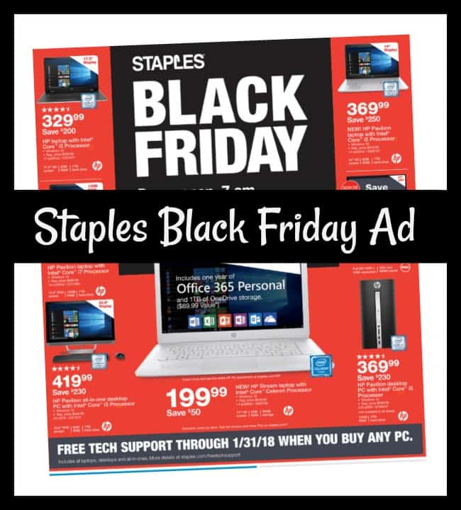 Staples has just revealed their Black Friday Plans. Staples Pre Black Friday Sales will begin in early November. Staples has also announced their store timings. Stores will be closed on Thanksgiving Day. Staples stores will open on 6AM Fri, Nov. 25 for their Black Friday Sales.