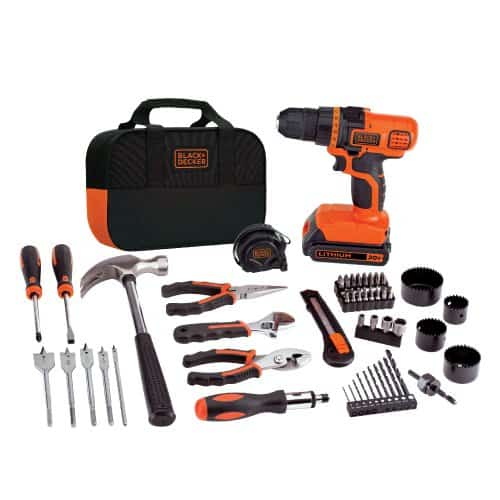 Black and Decker Drill and project set.