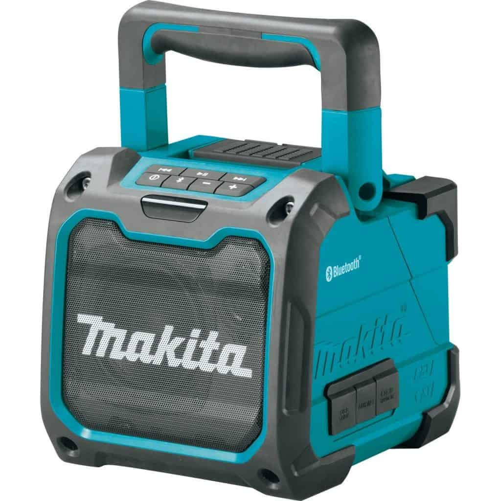 Makita Bluetooth job site speaker.