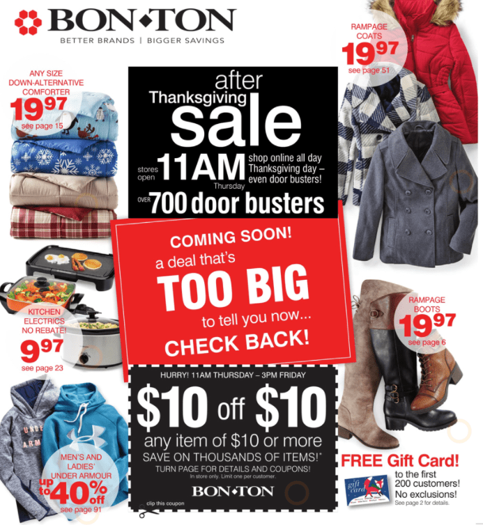 bon Ton Black Friday Ad Scan