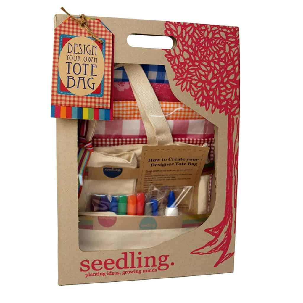 Seeding design your own tote bag.