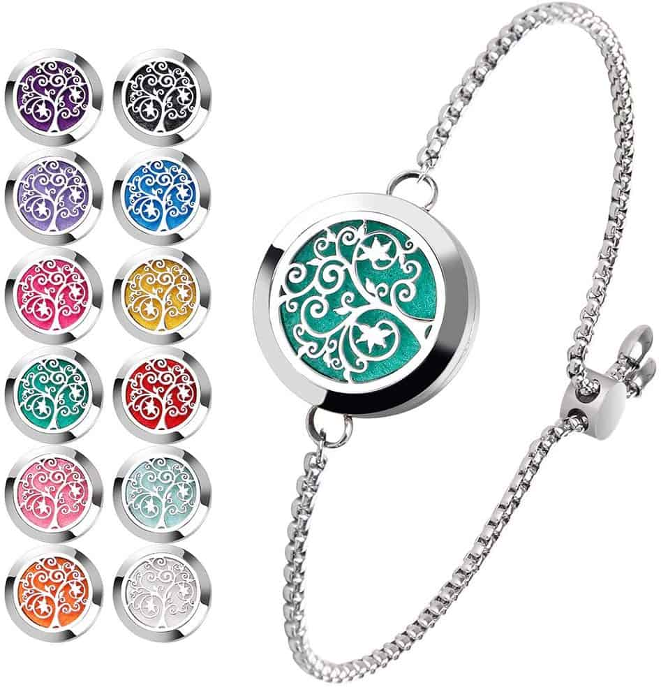 essential oil locket bracelet