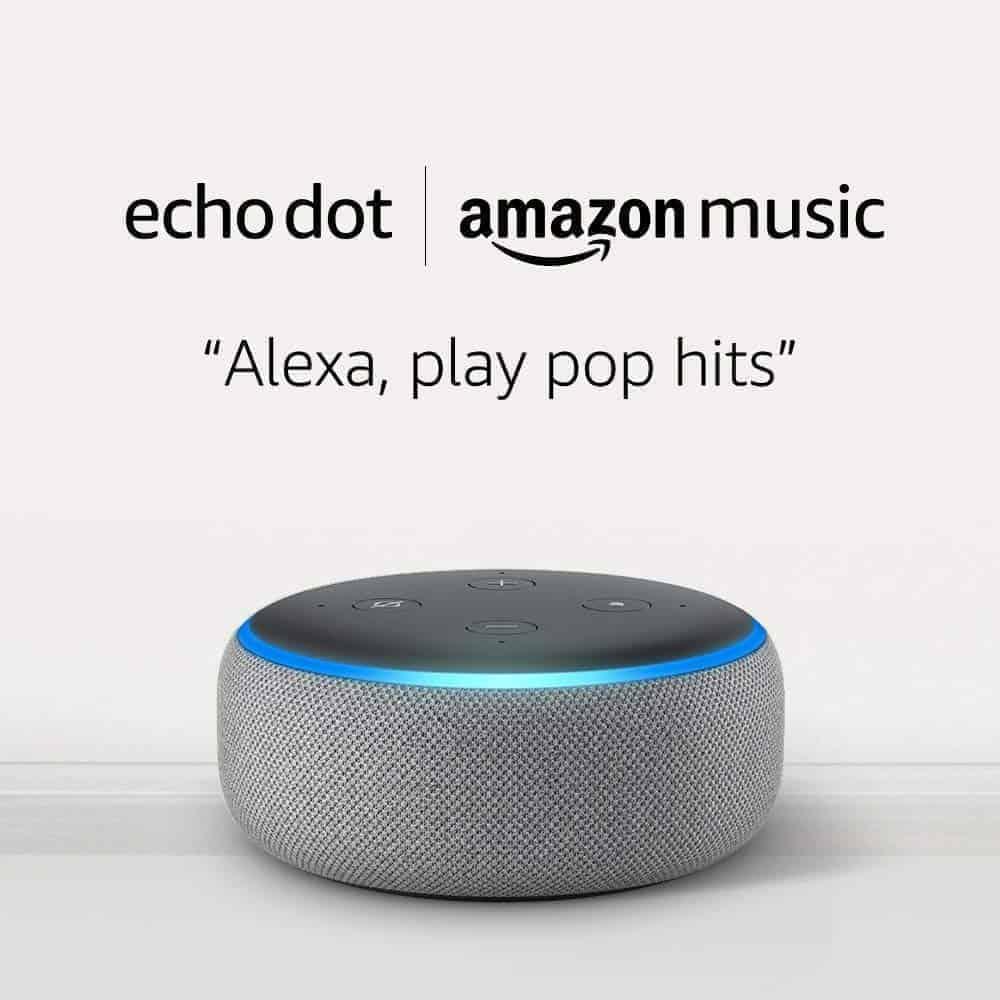 Amazon Echo dot sale to encourage Alexa to play music.