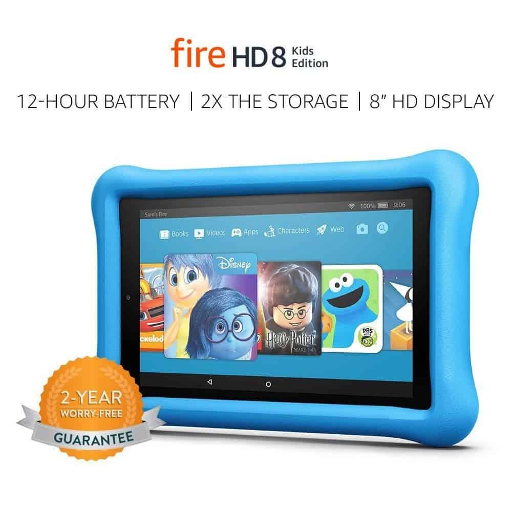 Kindle fire HD 8 kid\'s tablet.